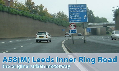 A58(M) Leeds Inner Ring Road