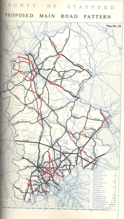 1951 Staffordshire County Development Plan