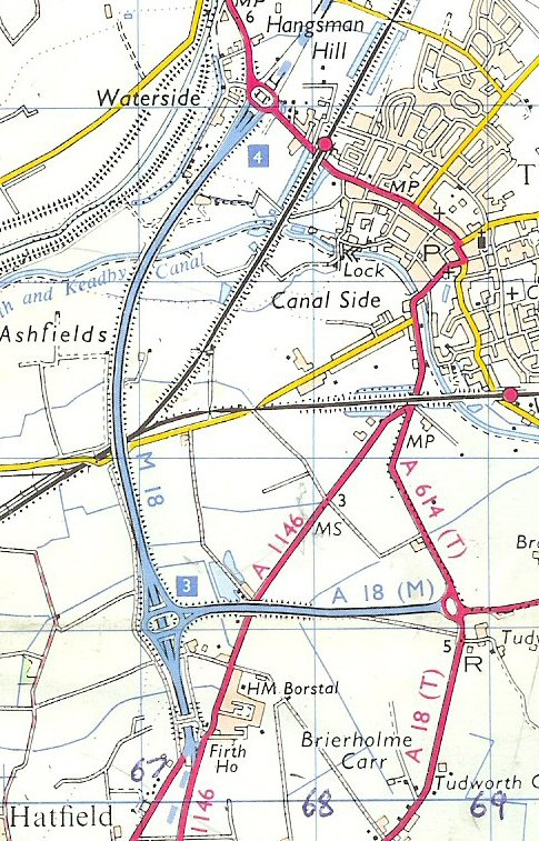 1972 map of A18(M)