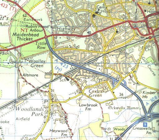 A423(M) map