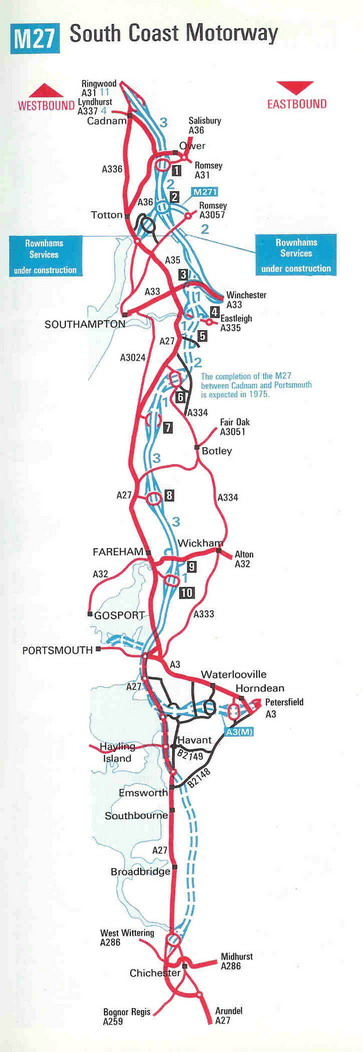M27 full route map